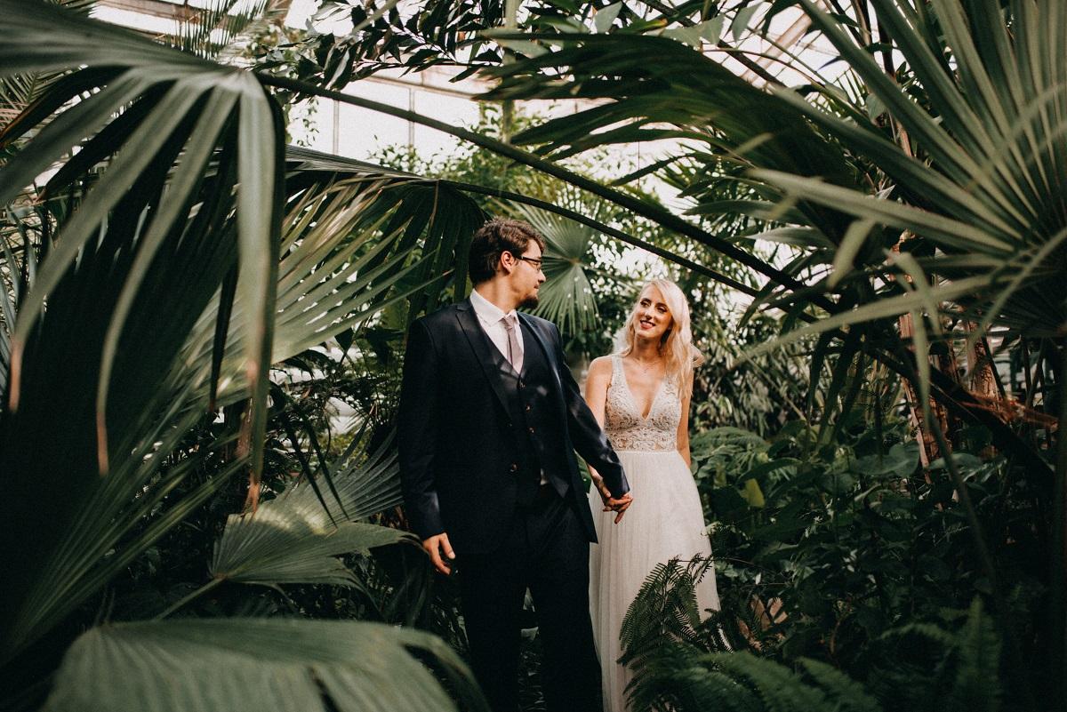 svadobné fotenie v skleníku Bratislava