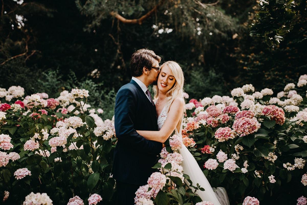 romantické svadobné fotenie