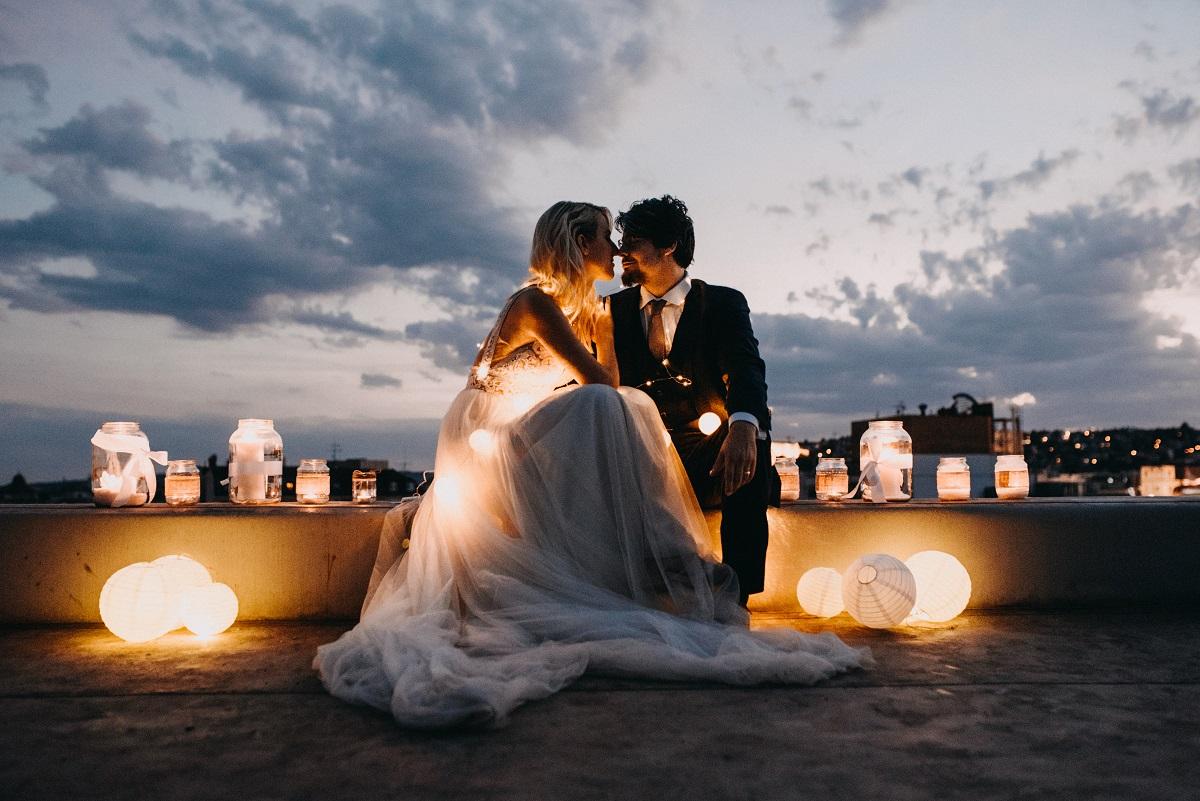 svetielka na svadobné fotenie