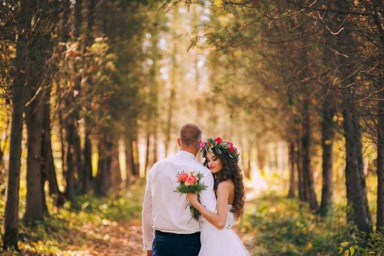 Jesenný svadobný outfit