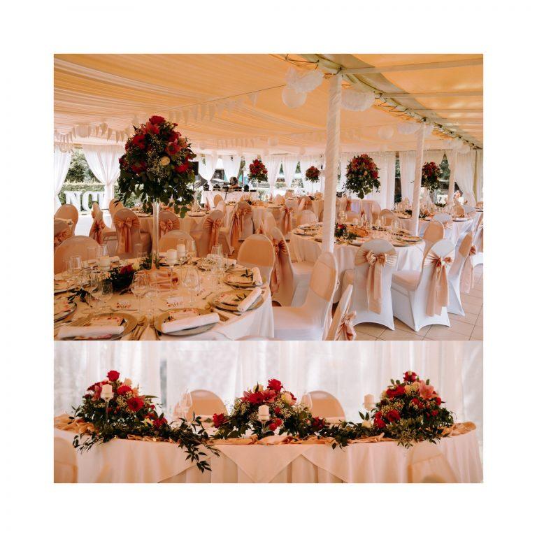 luxusná kvetinová svadobná výzdoba