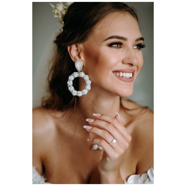luxusné svadobné náušnice