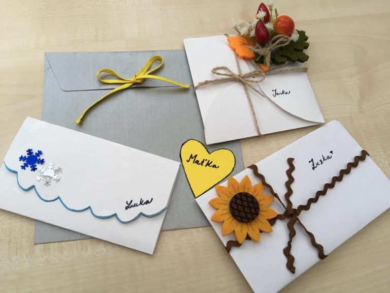 obálky na svadobné oznámenia