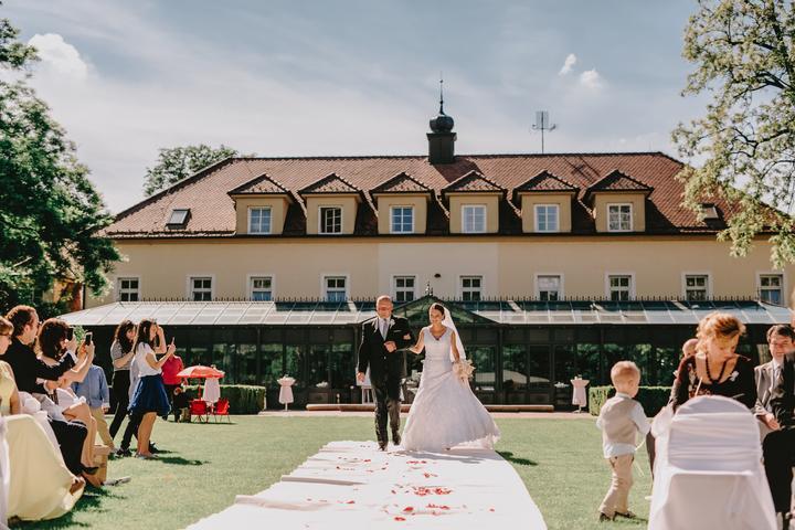 svadba v kaštieli Studené