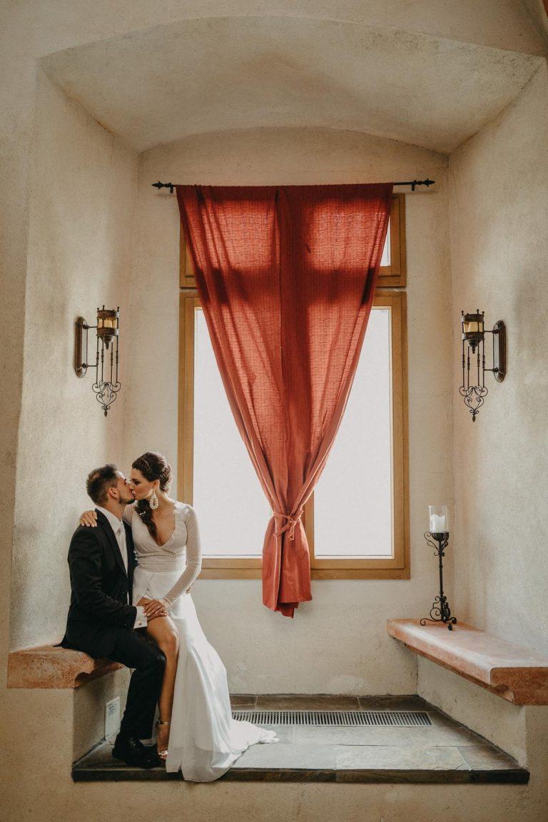 svadobné fotenie na zámku Vígľaš