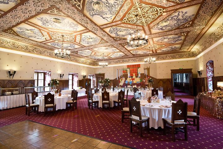 svadobná sála na zámku Vígľaš
