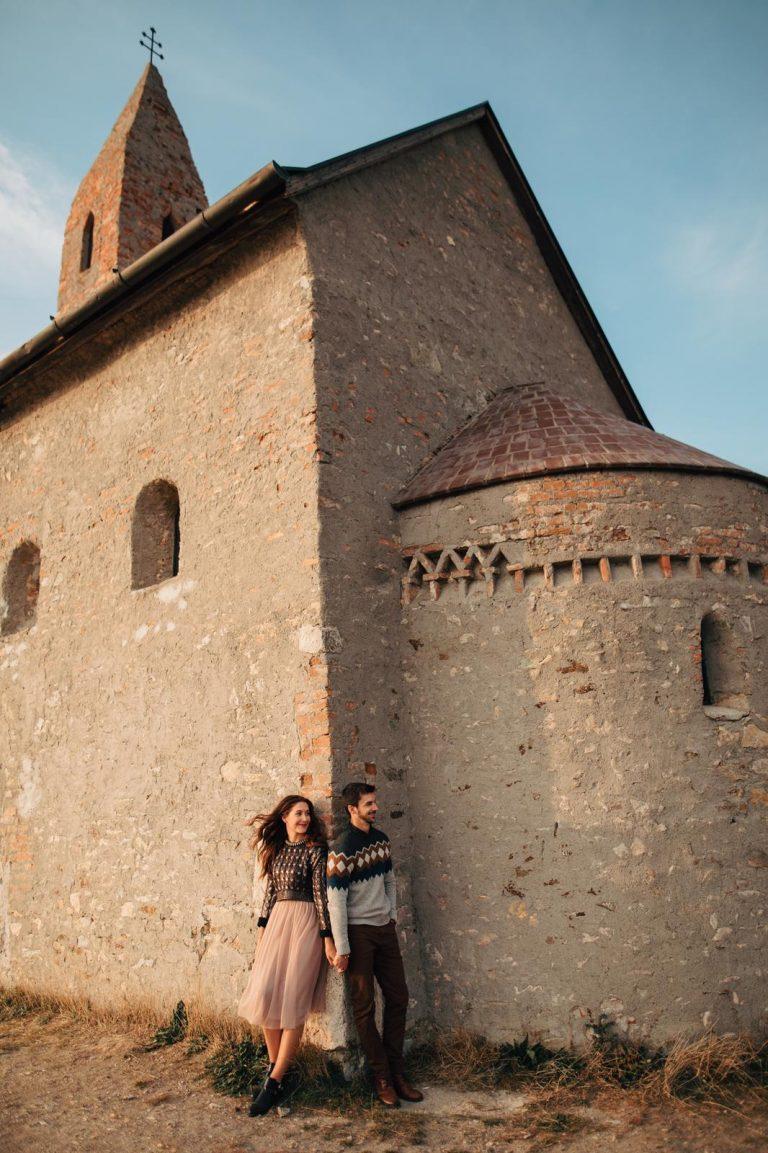 jesenné predsvadobné fotenie pri Drážovskom kostolíku