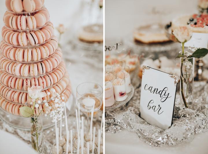 svadobný candy bar