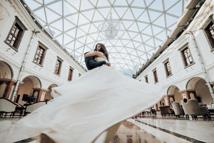 svadobné fotenie v kaštieli Galicia Nueva