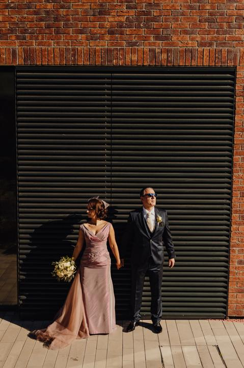 ružové svadobné šaty, retro nevesta