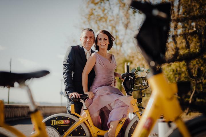 ružové svadobné šaty, svadba v Grand Hoteli River Park