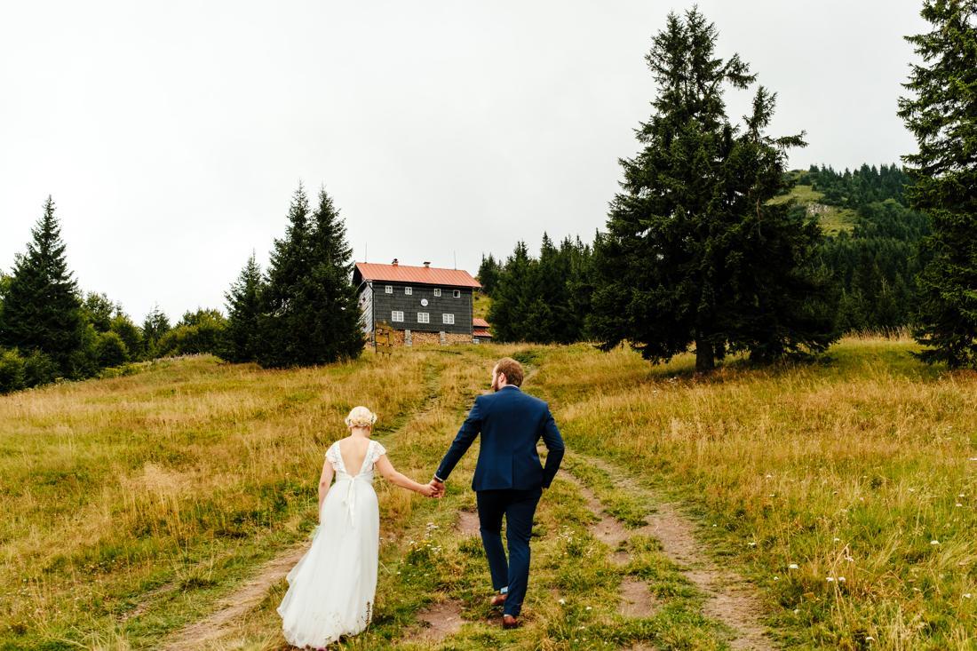 prírodná svadba v horách v penzióne Babia hora