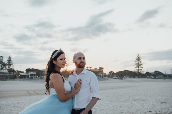 svadobné fotenie na pláži