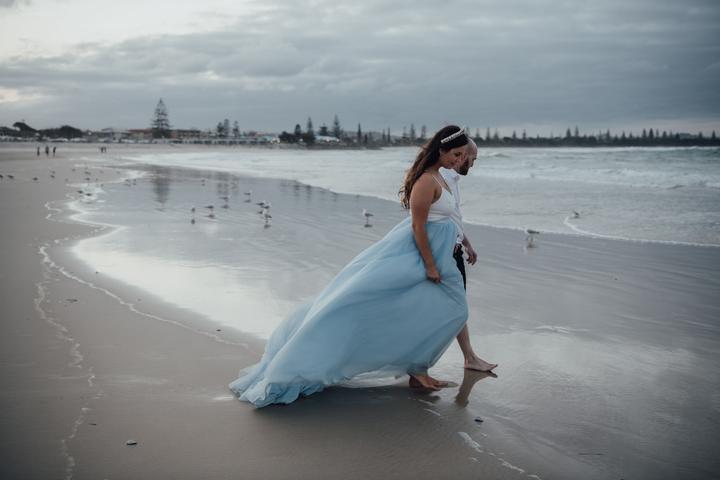 svadobné portréty pri mori