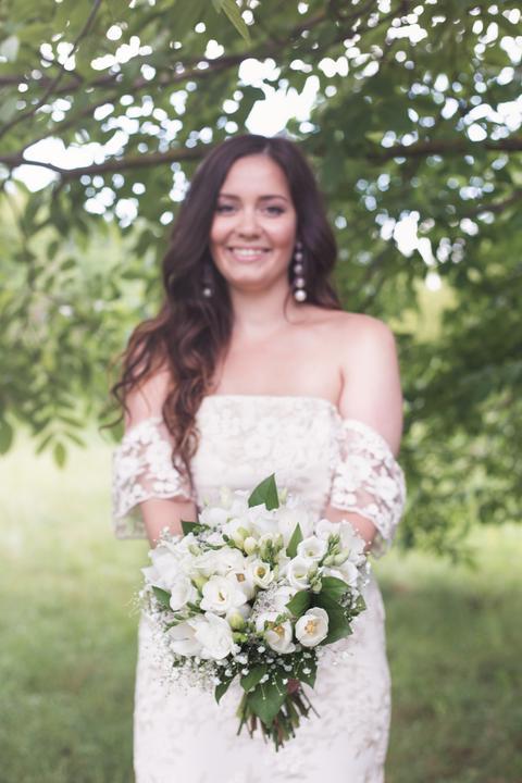 nevesta a svadobná kytica