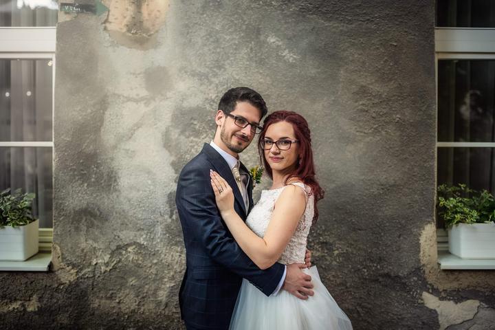 nevesta a ženích, svadobné fotenie