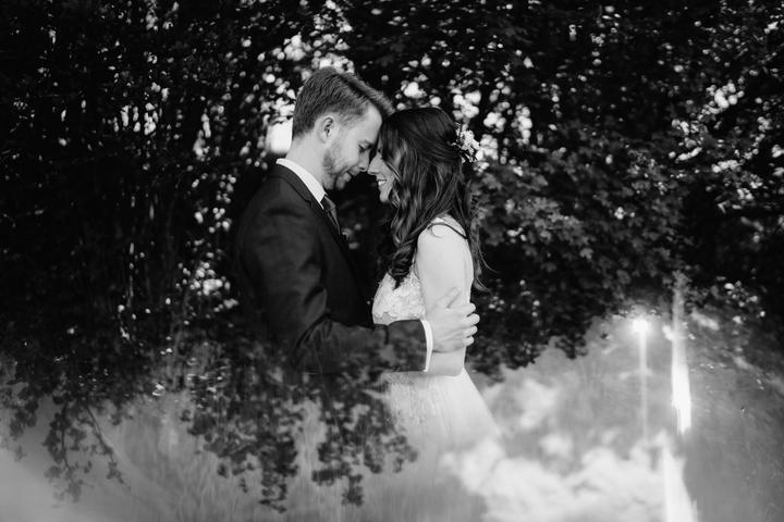 čiernobiele svadobné fotky