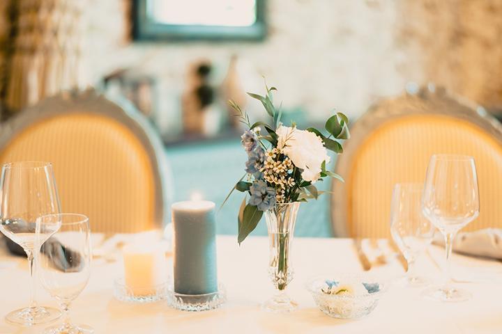 elegantná jemná svadobná výzdoba