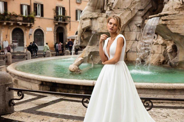 hladké svadobné šaty Innocentia