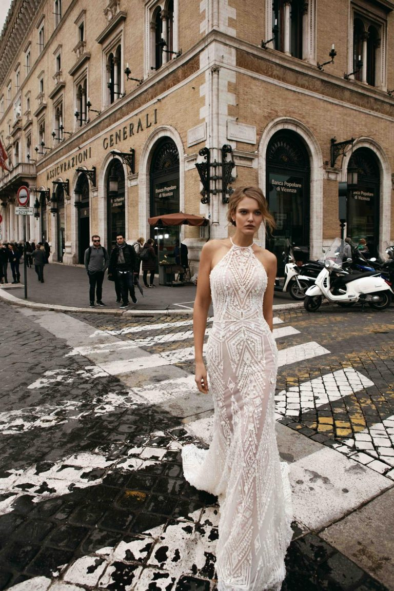 splývavé svadobné šaty Innocentia