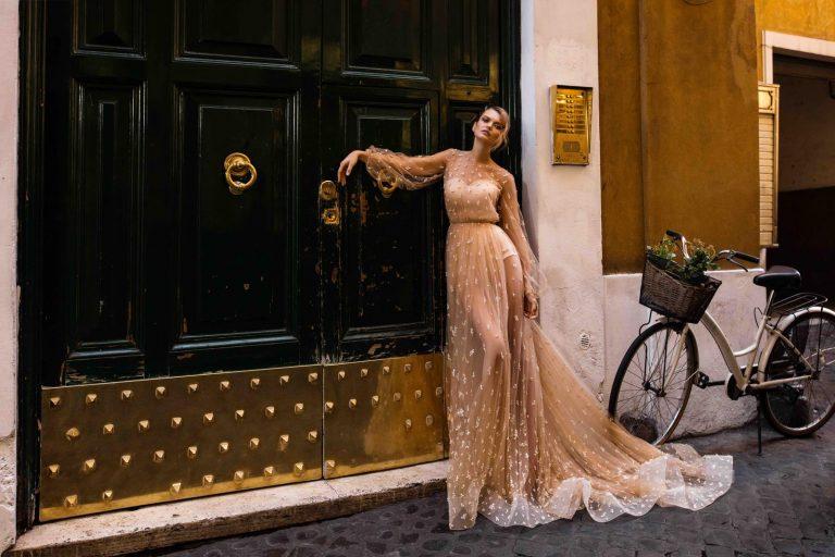ľahké a vzdušné svadobné šaty