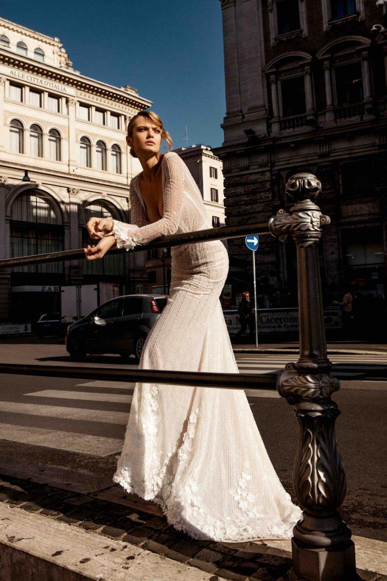 luxusné svadobné šaty v štýle art deco