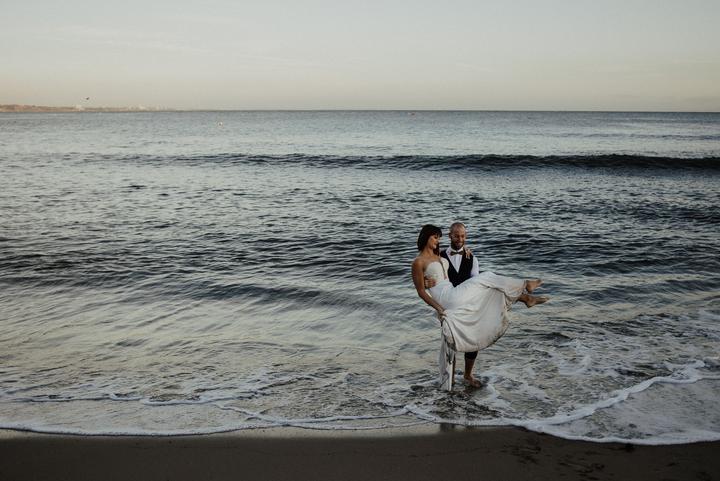 svadobné fotenie v mori