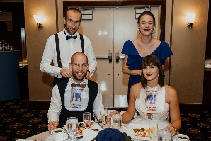 svadobná hostina v Las Vegas