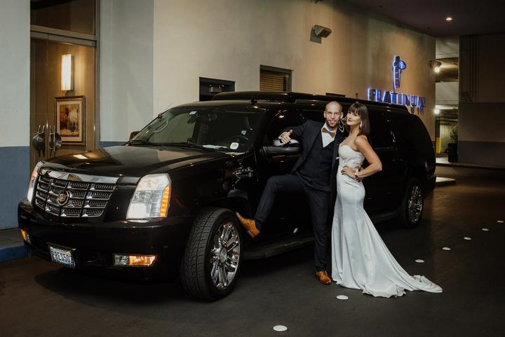 svadobná limuzína