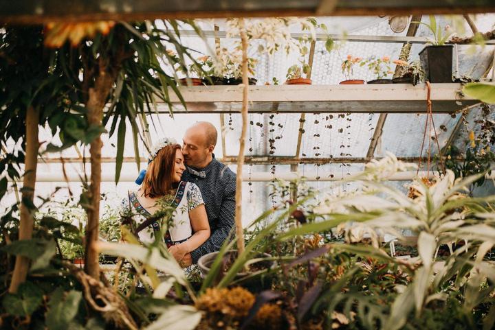 svadobné fotenie v skleníku