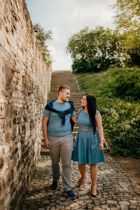 svadobné rande v Prahe