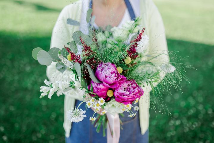 letná svadobná kytica