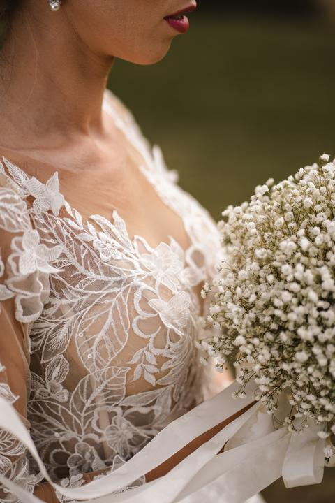 čipkované ivory svadobné šaty