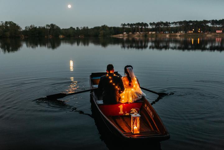 nočné svadobné fotenie
