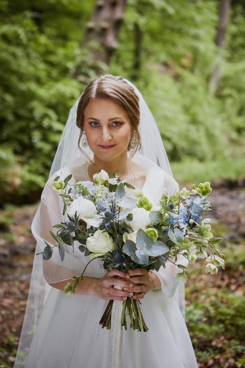 zelená svadobná kytica