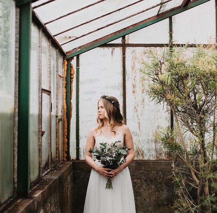 zeleno-biela svadobná kytica