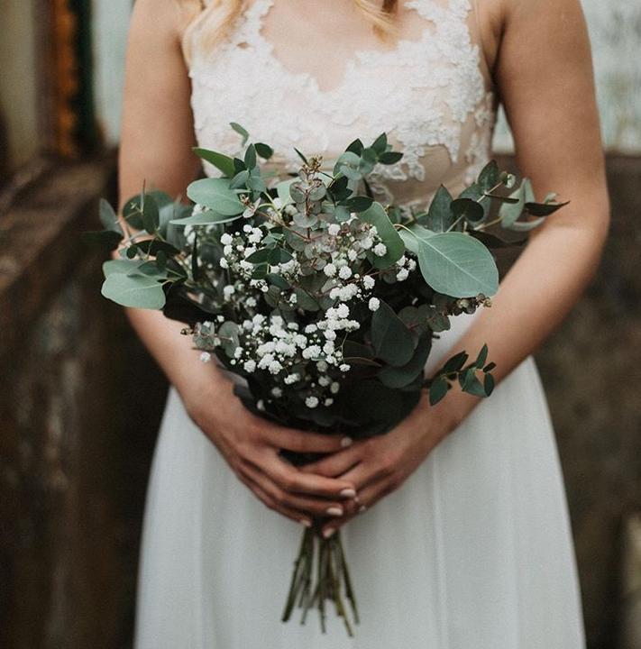 svadobná kytica z eukalyptu