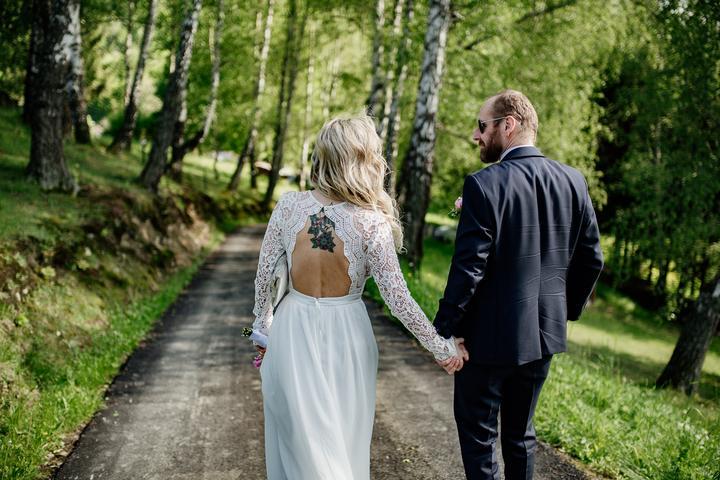 svadobné boho šaty