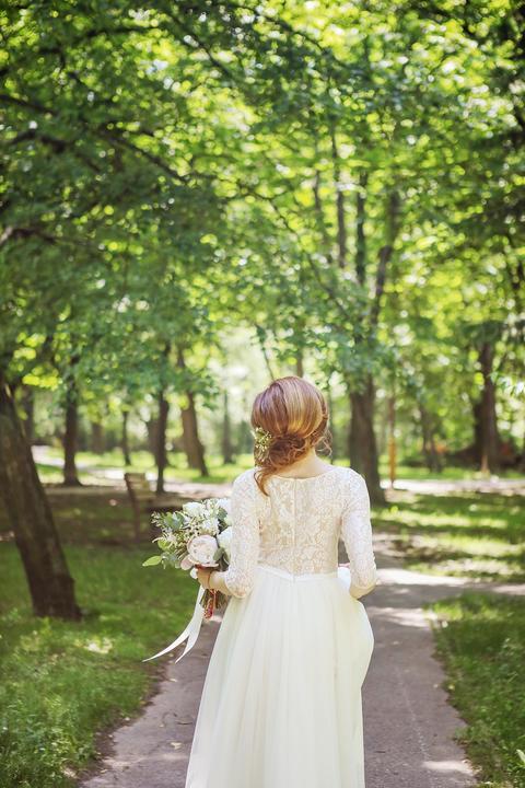 jednoduché svadobné šaty v boho štýle