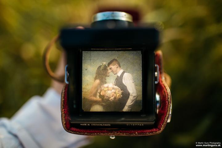 retro svadobné fotenie