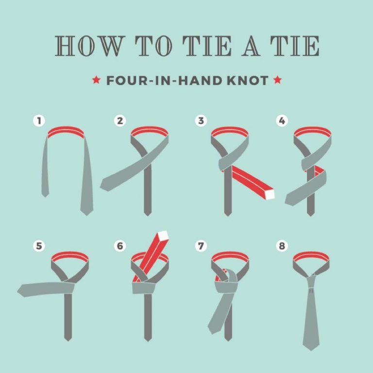 ako uviazať dvojitý uzol na kravate