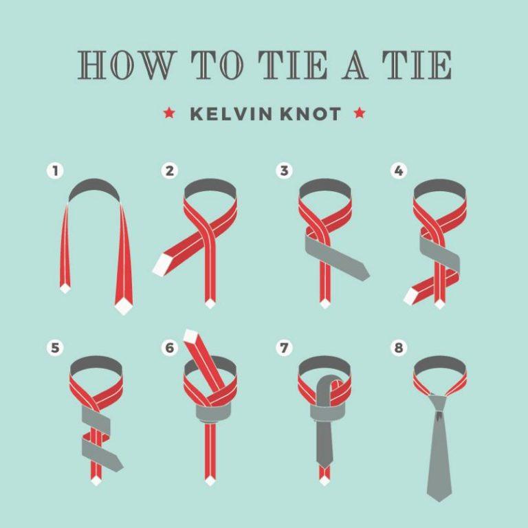 ako uviazať kravatu s uzlom kelvin