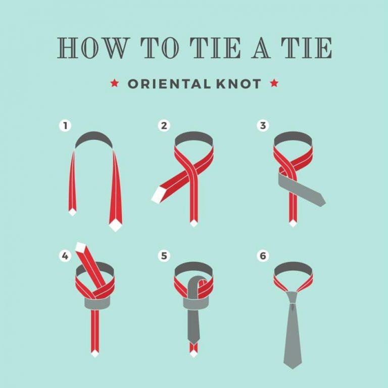 ako uviazať na kravate orientálny uzol