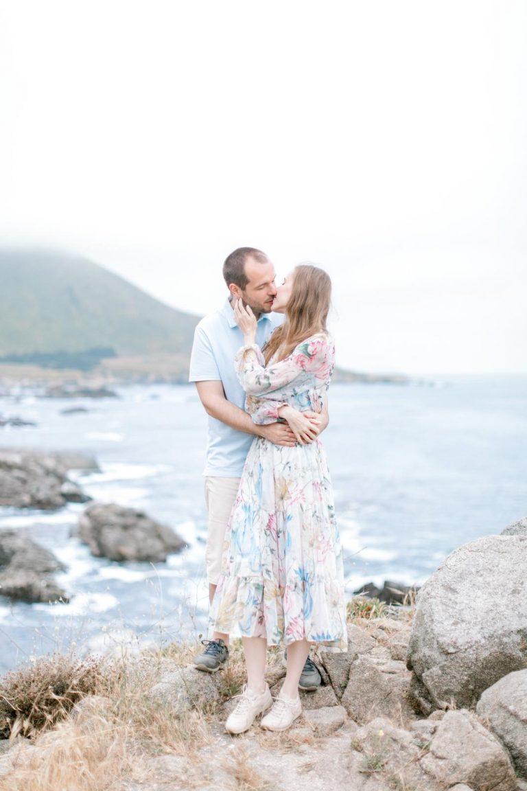 fotenie k výročiu svadby pri Tichom oceáne