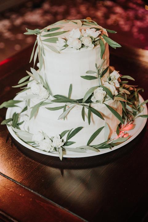 greenery svadobná torta