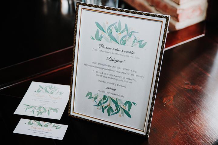 greenery svadobné tlačoviny