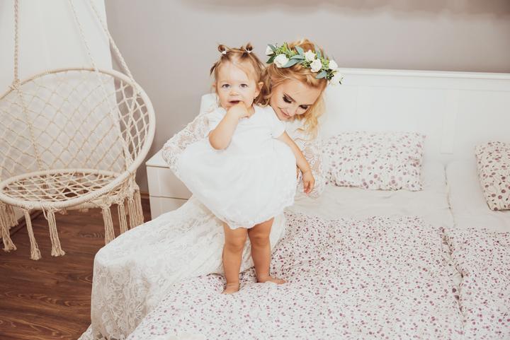 svadba s malým dieťaťom