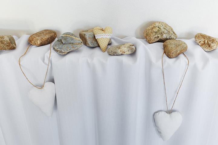 svadobné dekorácie z kameňa