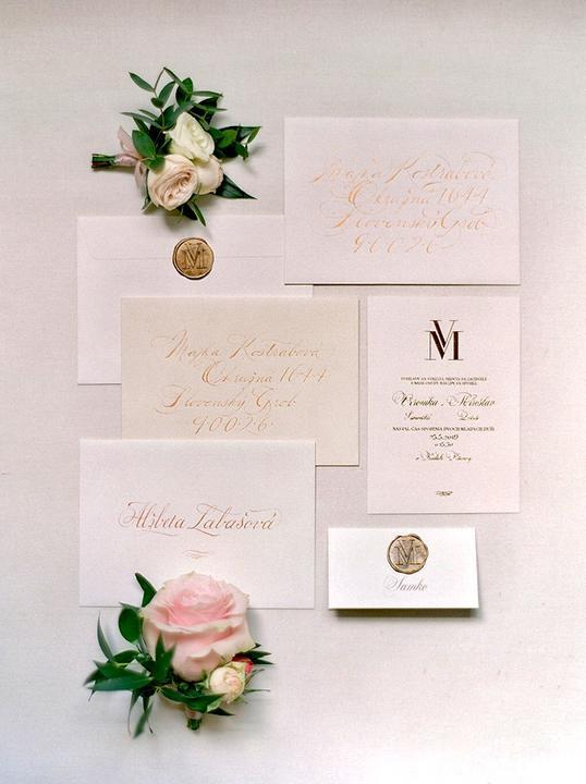 luxusné svadobné tlačoviny