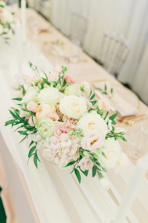 elegantná svadobná ikebana
